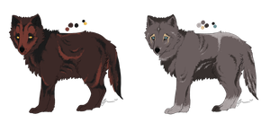 Grizzly x Colden Litter by Inkumei