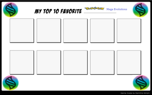 Top 10 Favorite Pokemon Mega Evolutions by KessieLou