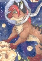 A New Universe - ACEO Trade by PoonieFox