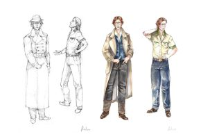 Four Drawings of Arduro by Tin-Lizzy