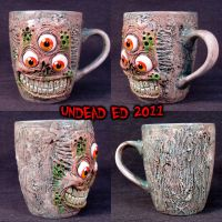 Undead Freak Deluxe Mug ooak by Undead-Art