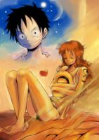 luffy x nami by MellcatNinA
