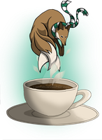 Coffee Kitsune 1 by BecciES