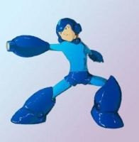 Mega Man in the Blue by CLE2
