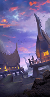 Van Lang fantasyland - Mobile game background by cloudintrousers