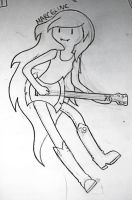 Sketch: Marceline by ceruleancrayons