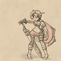 Sketch: Warrior Girl by Ihara