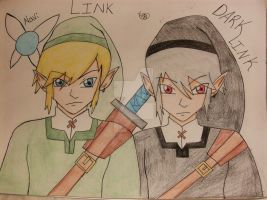 redrew: link and dark link by starfire808