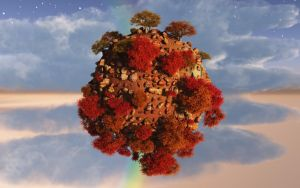 Small Autumn Planet by externible