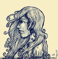 long curly hair workdoodle by amaliaseven