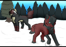 Winter 2012-Fun in the Snow by Wolf-Alpha