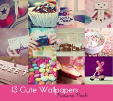 13 Cute Wallpapers Pack by SaniaArshad32