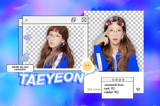 SNSD l Taeyeon l Pack Png by KoreanGallery