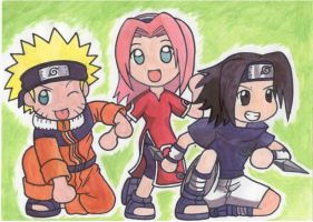 Konoha Team 7 by DemonAnime-Bloodlust