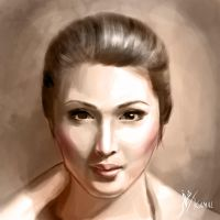 Portrait of Sandra Dewi by Fihril