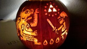 Wind Waker Pumpkin Carving by KiwifruitSantaCruz