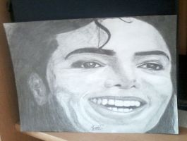 Smiling Michael Jackson portrait by Mimozami