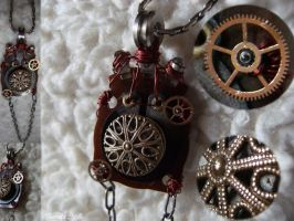 Steampunk Pendant II by Fieruta