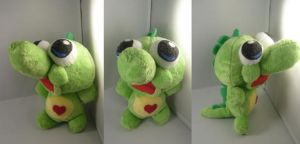 OC dinosaur plush commission by pandari