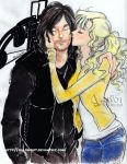 Daryl and Beth -The walking dead by zelldinchit