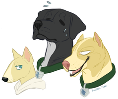 sweaty and secretive pups by mexicanine