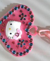 Hello Kitty Heart Necklace by pinkminx