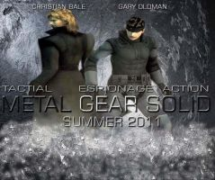 Metal Gear Solid movie poster by videogamemoviemaster
