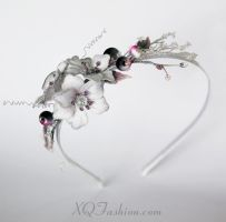 Hand Embroidery Blossom Headband by X-Q-Hand