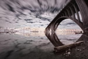 While Away the Hours - Infrared Bridge by Archangelical