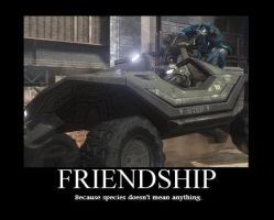 Friendship Motivational Poster by Hiro-Hex
