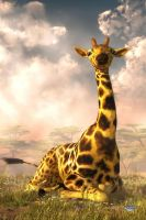 Sitting Giraffe by deskridge