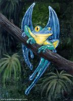 Blue Macawfrog by ursulav