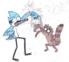 mordecai and rigby by Elois-luks