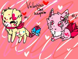 Valentines Day themed adopts by xTROPIC-CARRlBEAN