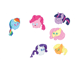 Mane 6: Wub Wub by Zilford-the-legend