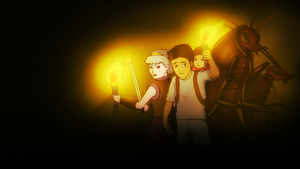 Gregor, Luxa, Boots, Temp, and Tick Wallpaper! by DoodleNotesPictures