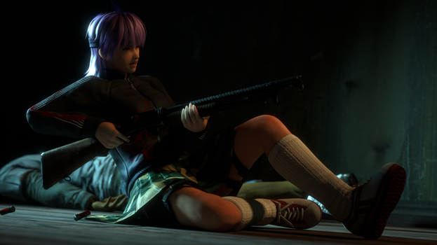 [WIP Unfinished] Ayane Firefight by Chrissy-Tee