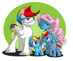 Rainbow Family by EllisArts