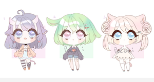 Adoptables: Set Price [closed] by Pocuii