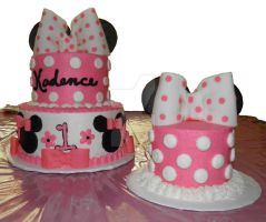 Minnie Mouse cake and smash cake by streboradnama