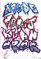 Graffiti Alphabet by Orbcreation