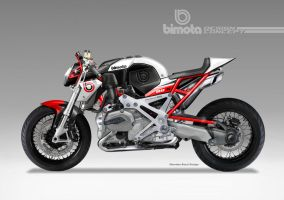BIMOTA BB-4 S Cafe Fighter Concept #1 by obiboi