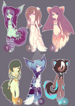 [163] $13 anthro character designs | OPEN by Toneru-chan
