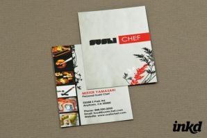 Sushi Chef Business Card by inkddesign
