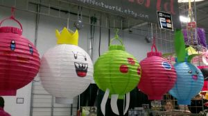 Video Game Character Paper Lanterns by paintmeaperfectworld