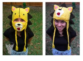 Kon Mask Hat by TheCrochetDragon