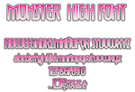 Monster High Font V.2 by HakureiKai