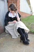 Steampunk Beauty with Apple Stock V by kndrwllmsn