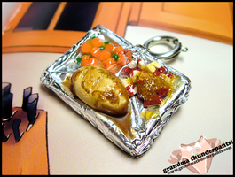 TV Dinner Keychain by GrandmaThunderpants