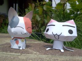 Two Kittens - Papercraft by Lyrin-83